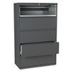 800 Series Five-Drawer Lateral File, Roll-Out/Posting Shelves, 42w x 67h, Charcl