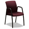 Ignition Series Guest Chair with Arms, Wine Fabric Upholstery