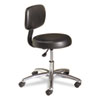 Medical Exam Stool with Back, 24-1/4 x 27-1/4 x 36, Black