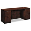 Arrive Double Pedestal Kneespace Credenza, 72w x 24d x 29-1/2h, Shaker Cherry