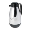 Hormel Vacuum Glass Lined Chrome-Plated Carafe, 1-Liter Capacity, Black Trim