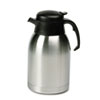 Hormel Stainless Steel Lined Vacuum Carafe, 1.9L, Satin Finish/Black Trim
