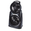 Twin Turbo, 2-in-1 Fan, High-Performance Fan, Black