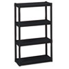 Rough N Ready 4 Shelf Open Storage System, Resin, 32w x 13d x 54h, Black