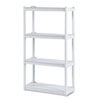 Rough N Ready 4 Shelf Open Storage System, Resin, 32w x 13d x 54h, Platinum