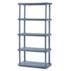 Rough N Ready 5 Shelf Open Storage System, Resin, 36w x 18d x 74h, Charcoal