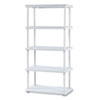Rough N Ready 5 Shelf Open Storage System, Resin, 36w x 18d x 74h, Platinum