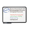Ingenuity Dry Erase Board, Resin Frame with Tray, 48 x 36, Black