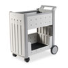 SnapEase Mail Cart, Resin, 21w x 38-1/2d x 42h, Platinum