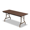 Economy Wood Laminate Folding Table, Rectangular, 72w x 30d, Walnut