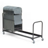 8' Folding Chair Cart, 34-Chair Capacity, Black