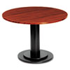"OfficeWorks 48"" Round Conference Table Top, Square Edge, Mahogany"