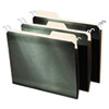 Hanging File Folders with Innovative Top Rail, Letter, Green, 20/Pack