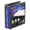 "Gapless Loop Ring View Binder, 11 x 8-1/2, 3"" Capacity, Black"