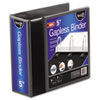 "Gapless Loop Ring View Binder, 11 x 8-1/2, 5"" Capacity, Black"