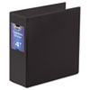 "Gapless Loop Ring Binder, 11 x 8-1/2, 4"" Capacity, Black"