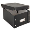 Snap 'N Store Collapsible Index Card File Box Holds 1,100 5 x 8 Cards, Black