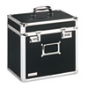 Locking Security Storage Box, Letter, 13 1/2w x 10 1/2d x 13 1/4h, Black