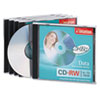 CD-RW Discs, 700MB/80min, 12x, w/Jewel Cases, Silver, 5/Pack