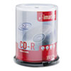 CD-R Discs, 700MB/80min, 52x, Spindle, Branded, Silver, 100/Pk