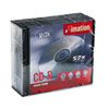 imation CD-R Discs, 700MB/80min, 52x, w/Slim Jewel Cases, Silver, 10/Pack