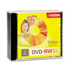 DVD-RW Discs, 4.7GB, 4x, w/Jewel Cases, Silver, 5/Pack