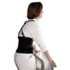 "Standard Back Support, 7"" Back Panel, Single Closure w/Suspenders, Large, Black"