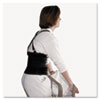 "Standard Back Support, 7"" Back Panel, Single Closure, Suspenders, Medium, Black"