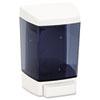 Impact Plastic Soap Dispenser, 46oz, 5 1/2w x 4 1/4d x 8 1/2h, White