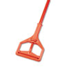 "Janitor Style Screw Clamp Mop Handle, Fiberglass, 64"", Safety Orange"