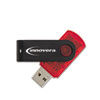 Innovera Portable USB 2.0 Flash Drive, 4GB