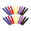 """Innovera Cable Straps, 7"""", Assorted Colors, 20 Straps/Pack"""