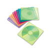 Innovera Slim CD Case, Assorted Colors, 10/Pack