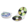 Innovera CD/DVD Shell Case, Clear, 25/Pack