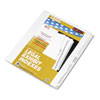 "80000 Series Legal Exhibit Index Dividers, 1/25 Cut Tabs, Printed ""1""-""25"
