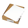 80000 Series Blank 1/5-Tab Divider Set, Letter, White, 25 Sets/Box