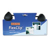 FlexClip Gooseneck Copyholder, Monitor/Laptop Mount, Black
