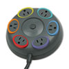 Kensington SmartSockets Color-Coded Tbltop Surge Protector, 6 Outlets, 16ft Cord