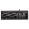 Keyboard for Life Slim Spill-Safe Keyboard, 104 Keys, Black