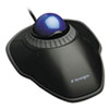 Kensington Orbit Trackball with Scroll Ring, Two Buttons, Black