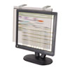 "LCD Protect Acrylic Monitor Filter w/Privacy Screen, 20"" LCD Screens, Silver"