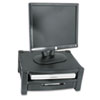 Two Level Stand, Removable Drawer, 17 x 13 1/4 x 3 to 6 1/2, Black