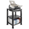 Mobile Printer Stand, 2-Shelf, 17w x 13-1/4d x 19-3/4h, Black