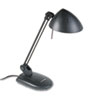 Ledu High-Output Three-Level Halogen Desk Lamp, 17 Inch Reach, Matte Black