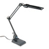 "13W Fluorescent Computer Task Lamp, 2-1/4"" Clamp-On or Desk Base, 30"" Arm Reach"