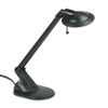 Ledu Adjustable Arm 50W Halogen Desk Lamp, Contemporary Shade, Angled Base, 18