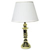 Ledu Traditional Brass Incandescent Table Lamp, 26 Inches High