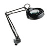 "Clamp-On Fluorescent Swing Arm Magnifier Lamp, 5"" Lens, 42"" Reach, Black"