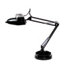 Full Spectrum Magnifier Desk Lamp, Black, 30 Inches High