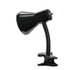 Clip-On Incandescent Gooseneck Lamp, Nine Inches High, Black
